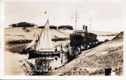 SUEZ CANAL Suezkanal Bei Ismailia, Dampfschiff, Segelschiff, Hospital Der Canal Co., Gelaufen 1934 - Ägypten