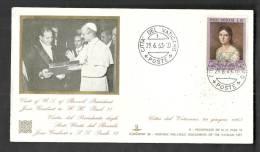 1963 VATICANO BUSTA SPECIALE VISITA DEL PRESIDENTE BRASILE 29.6.63 - BV001 - FDC