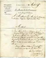 MP  Du MAIRE De La ROQUE D'AUTHERON + 12 LAMBESC / Dept Des BOUCHES DU RHONE / 20 Avril 1825 - Postmark Collection (Covers)