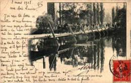 90 Une Batterie Sur Le Pont Birago (1908) - Manovre