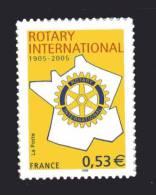 Francia ** - 2005 - Yvert N° 3750A . Rotary International Autoadhèsif - Adhesive Stamps