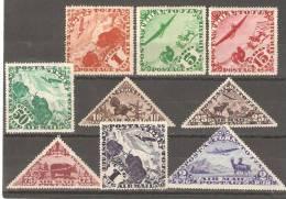 Tannu Tuva 1934,Sc C1-C9,Mint Hinged* - Tuva