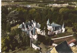 CPSM Couleur:EN AVION AU-DESSUS DE 6 - VILLEBERNIER (Maine-et-Loire):le Château-cp Dentelée Grd Format - France