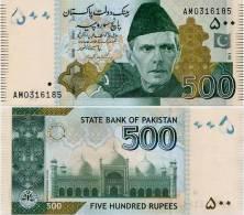 PAKISTAN        500 Rupees        P-New         2011        UNC  [sign. Yaseen Anwar] - Pakistan