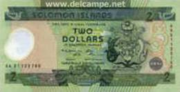 SOLOMON ISLANDS 2 Dollars -2001y Polymer-UNC - Salomons