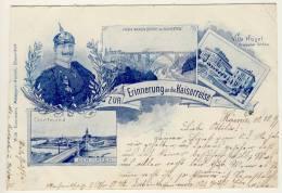 HÖRDE / Dortmund  - 1899 , ZUr Erinnerung An Kaiserreise - Karte Links Beschnitten - Dortmund