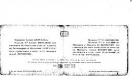 FAIRE PART ST MARTIN DE SAVIGNY 21/11/1942 LUCIEN DEWAELE ET MME V BONHOURE - Mariage