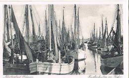 AK Büsum, Fischerkutter Im Hafen 1936 - Büsum