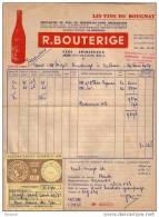 PUY DE DÔME - JOZE - LES VINS DU BOUGNAT - R. BOUTERIGE - 1957 - 1950 - ...