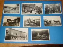 8 Photos Originales ENTRECHAUX Vaucluse (dont L Equipe De Foot 1940) Annee 1930 A 1940 - France