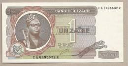 Zaire - Banconota Non Circolata Da 1 Zaire - 1979 - Zaire