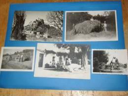 5 Photos Cartes Photo 84 Vaucluse ENTRECHAUX Voir Legende Au Dos - France