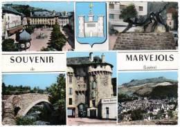 Souvenir De Marvejols (multivues : Pont, Place, ...) - Marvejols