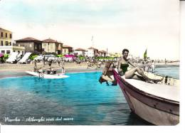 VISERBA - Alberghi Visti Dal Mare, Animata, Barca E Moscone, Viagg. Fran. Caduto, F.g. - MAR-16-70 - Forlì