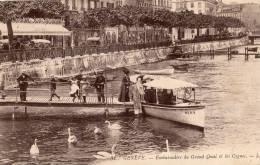 Genf-Genéve - Embarcadére Du Grand Quai Et Les Cygnes - GE Genève