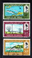 British Virgin Islands Used Scott #183-#185 Completion Of Bermuda-BVI Telephone Link - Iles Vièrges Britanniques
