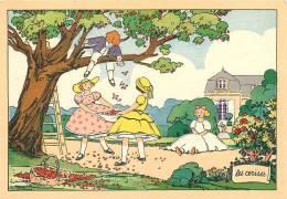 Belle Carte Illustrateur ( ?  ) - La Cueillette Des CERISES - TBE - Edition Barré Et Dayez - 2 Scans - Illustrateurs & Photographes