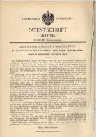 Original Patentschrift - C. Struck In Querum B. Braunschweig , 1899 , Druckventil Mit Kolbenschieber !!! - Historische Dokumente