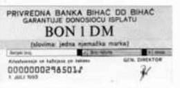 Banknote Of 1 DM BIHAC POCKET 1993 Uncirculated. Lot2 - Bosnia And Herzegovina