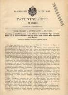 Original Patentschrift - F. Müller In Potschappel B. Dresden , 1899 , Papier- Und Kartonmaschine , Freital !!! - Historische Dokumente