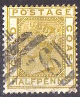 Côte D'Or - 1884 - Y&T N° 10, Oblitéré - Côte D'Or (...-1957)