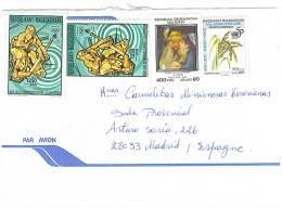 VEND TIMBRES DE MADAGASCAR N° 1791 + 996 + 1643A X 2 , SUR LETTRE , COTE : ?,?,?,?, !!!! (d) - Madagascar (1960-...)