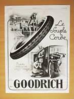Pub Papier 1922 Voiture Automobiles Pneu Goodrich  Automobile Dessin Pere Noel - Pubblicitari