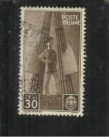 ITALIA REGNO 1937 COLONIE ESTIVE E INFANZIA CENTESIMI 30 TIMBRATO - Oblitérés