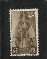 ITALIA REGNO 1937 COLONIE ESTIVE E INFANZIA CENTESIMI 30 TIMBRATO - Used