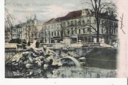 GRUSS AUS DUSSELDORF TRITONENGRUPPE IM STADTGRABEN 1902 - Duesseldorf