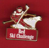 24052-pin's Rred Ski Challenge..signé Arthus Bertrand. - Arthus Bertrand