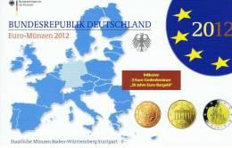 DUITSLAND - PROOF SET 2012 - LETTER F + 2 EURO 2012 10 JAAR EURO - Allemagne