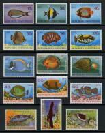 Indonesia 1971 1972 1973 1974 1975 Fish Marine Life MNH - Vissen