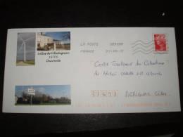 PAP Eolienne De Villefagnan (16) Timbre   Beaujard - Sciences