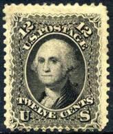 US #69 Mint Hinged 12c Washington From 1861 - Unused Stamps