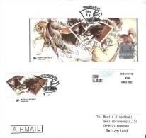 Corée 2011: Philately Week Michel-No 2826-9 & Bloc Sur 4 Lettres FDC Exceptionelles - Pferde