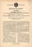 Original Patentschrift - R. Veeck In Algenrodt B. Idar , 1905 , Werkzeug Für Flache Ringe !!! - Werkzeuge