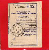 RECEPISSE DE MANDAT SAVIGNY S/ORGE 6/5/38 - Postdokumente
