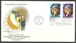 United Nations New York  18.10.1974 FDC Naciones Unidas UN World Population Year - Lettres & Documents