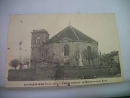 70 BLONDEFONTAINE - L´EGLISE OCTOGONE - LE MONUMENT AUX MORTS - 1921 (EDITION ?) - Francia