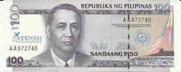 "PHILIPPINES 100 PISO 2011 PICK NEW  UNC ""ATENEO OF LAW"" - Philippines"