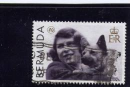 Bermuda, 2006,  USED # 919, QUEEN ELIZABETH 11, 80TH ANNIV.: AS CHILD WITH A DOG - Bermudes