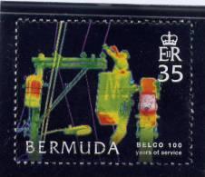 Bermuda, 2006,  USED # 915, WORKERS IN CHERRY PICKER - Bermudes