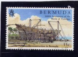 Bermuda, 2005, USED # 903,  HMS PICKLE IN CONSTRUCTION - Bermudes