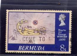 Bermuda, 1979,  USED  # 380, MAP OD BERMUDA 1609 - Bermudes