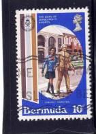 Bermuda, 1981,  USED  # 415,  GIRL HELPING A BLIND MAN - Bermudes