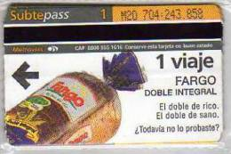 SUBTEPASS  PASE PARA EL METRO  BUENOS AIRES   ARGENTINA  OHL - Subway