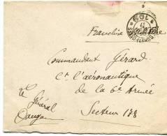 58420 H - FM Cad TRESOR ET POSTES  * 109 * Sept 1917 Avec Carte De Visite Autographe Du Général DAUGAN - Militaria