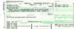 Passenger ticket (receipt) - Flight Brussels-Prague-Brussels - SN Brussels Airlines - 07-08NOV2005