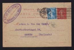 1926 - Oblitération Par Machine Allemande / MULHOUSE 1 - HAUT RHIN / Entier 30c Semeuse >>> HOLLANDE - 1921-1960: Modern Tijdperk
